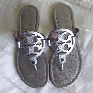 Pewter Tory Burch Miller Sandals